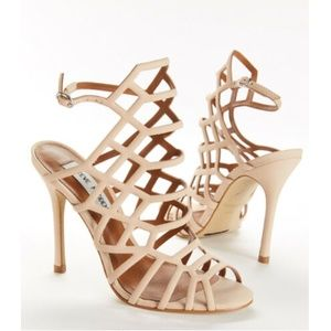 "Steve Madden ""Slithur"" Nubuck Leather Blush Heels"